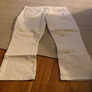 Gap white crop flare jeans